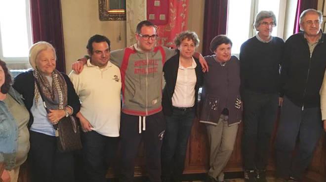 Manola Gruppi con la sua squadra a Pontenure