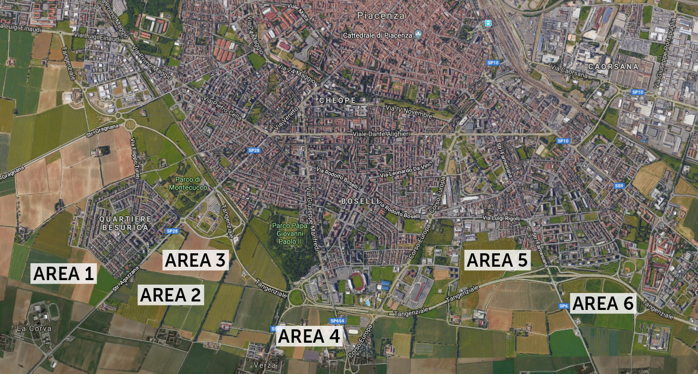 mappa aree nuovo ospedale