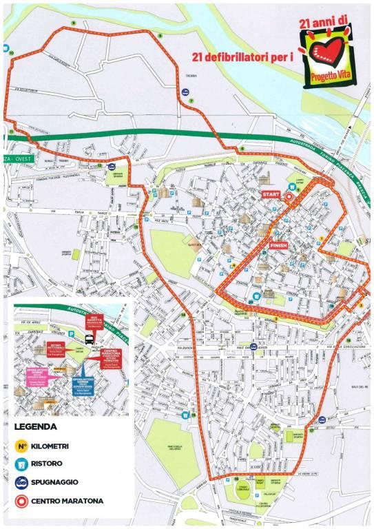 mappa Placentia Half Marathon 2019