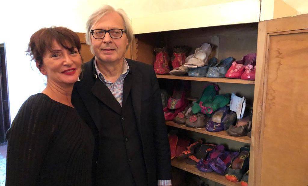 Paola Foppiani e Vittorio Sgarbi
