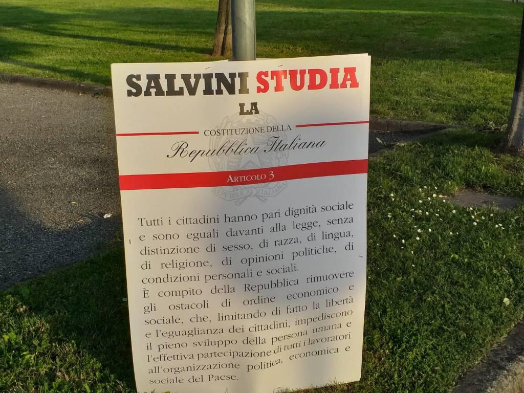Protesta contro Matteo Salvini