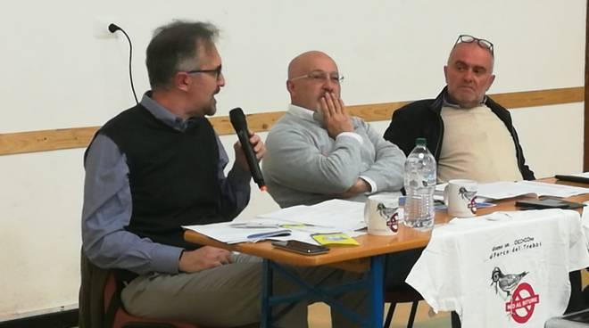 """incontro a Gossolengo organizzato dal comitato """"no al bitume"""" con i candidati sindaci"""