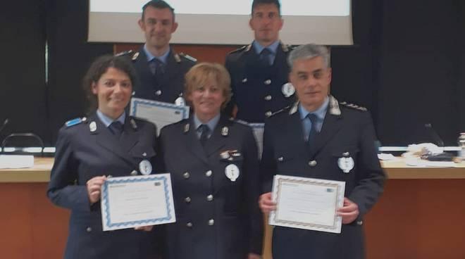 Gli agenti della Polizia Locale premiati a Bologna