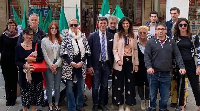 Forza Italia in via XX settembre a Piacenza