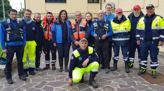 Volontari Protezione Civile con Paola Gazzolo