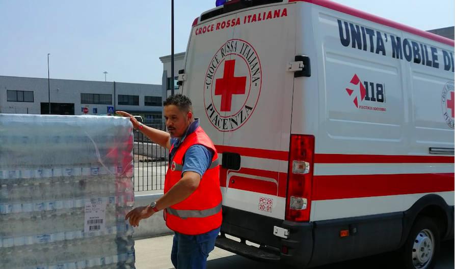 Croce Rossa servizi caldo