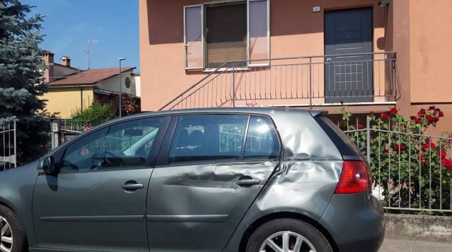 danni auto San Nicolò stazione