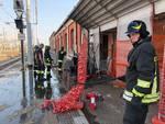 incendio in stazione vigili del fuoco