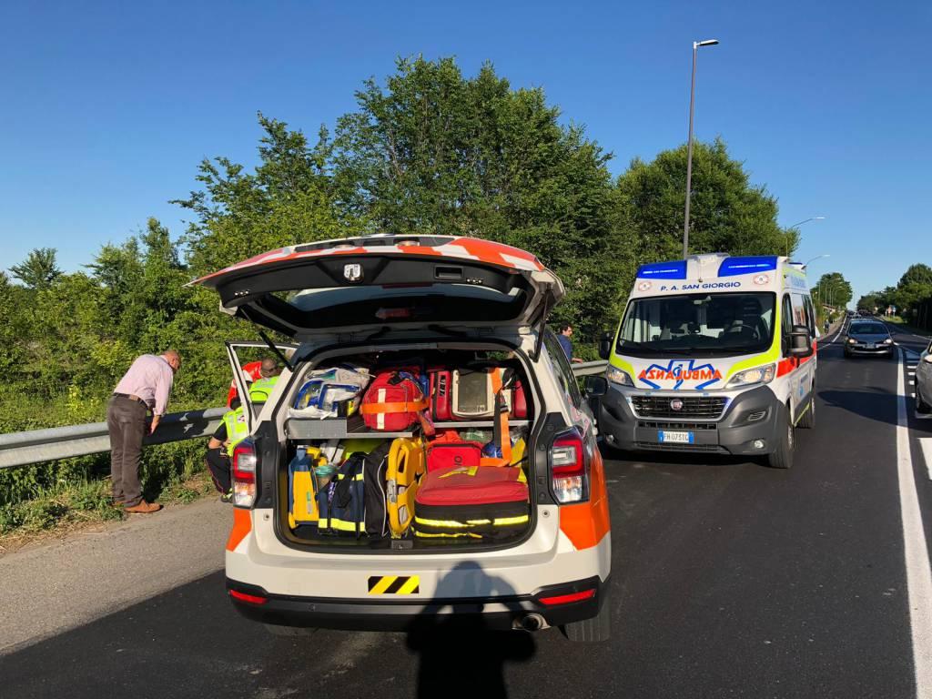 incidente a Borghetto a moto