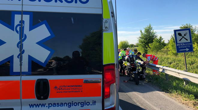 incidente a Borghetto a moto