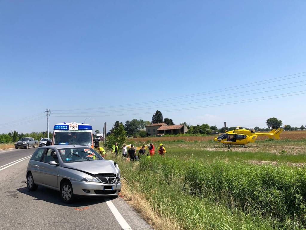 incidente a San Nazzaro moto