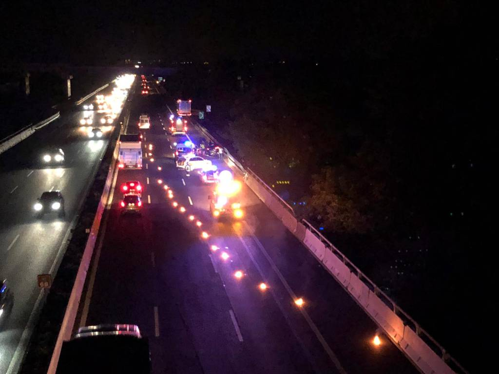 incidente autostrada notte