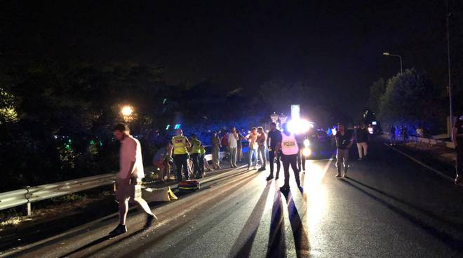 incidente notte falciati Statale 45