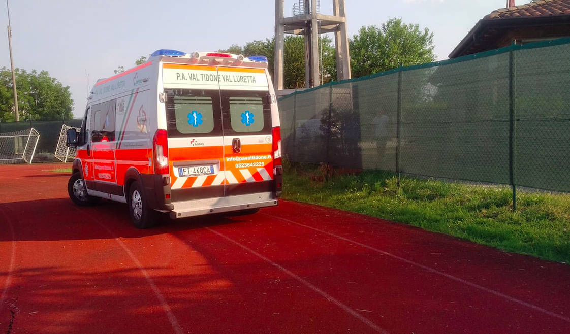 L'ambulanza a Castelsangiovanni
