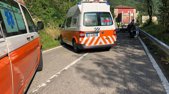 L'intervento dei soccorritori a Marsaglia