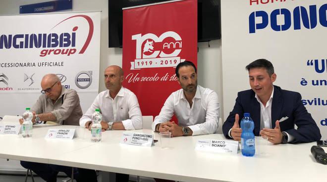La conferenza stampa per il rinnovo di Franzini