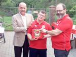 La consegna del defibrillatore allo Special Dream Team