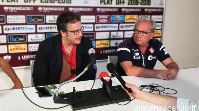 Marco Gatti in sala stampa (foto Piacenza Calcio)