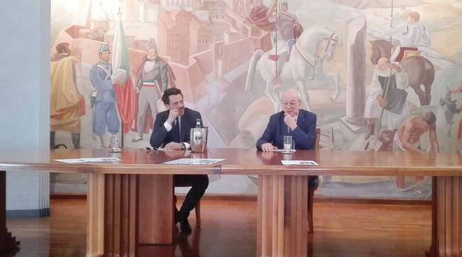 Mino Manni e Corrado Sforza Fogliani