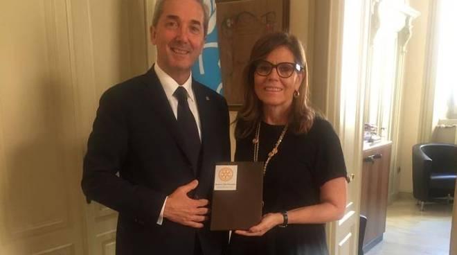 Pietro Coppelli e il sindaco Patrizia Barbieri