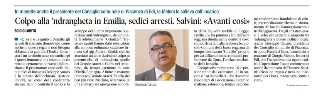 rassegna stampa Caruso
