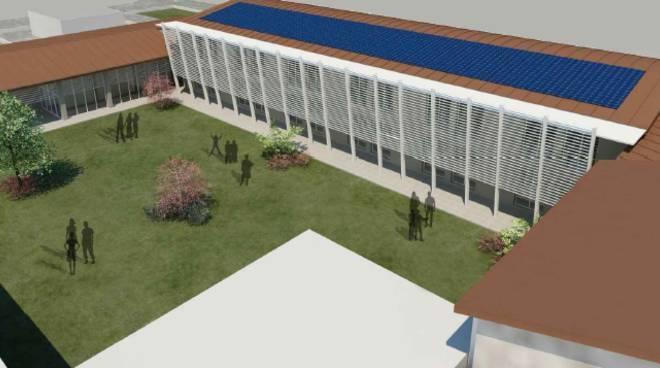 Rendering nuova scuola cadeo
