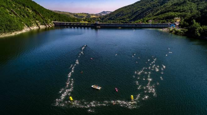 Triathlon Diga di Mignano, Credits Gian Francesco Tiramani.