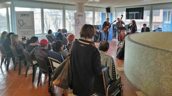 Una esibizione musicale in ospedale a Piacenza