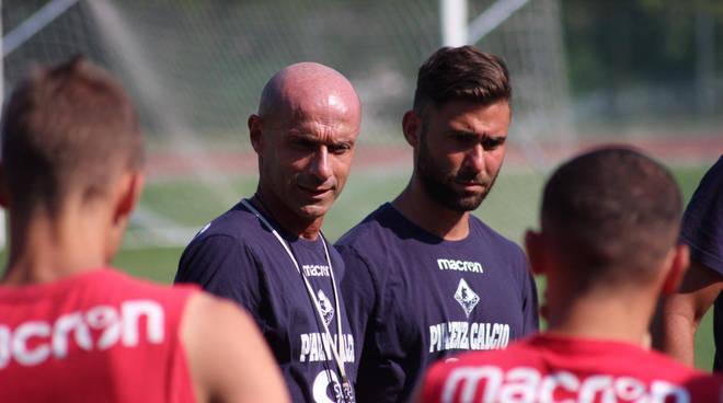 Arnaldo Franzini durante il ritiro (foto Piacenza Calcio)