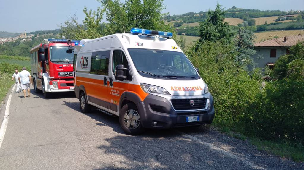 incidente a Trebecco di Nibbiano
