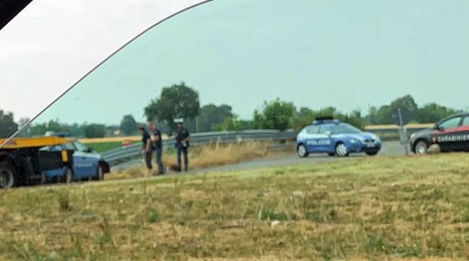 incidente polizia tangenziale