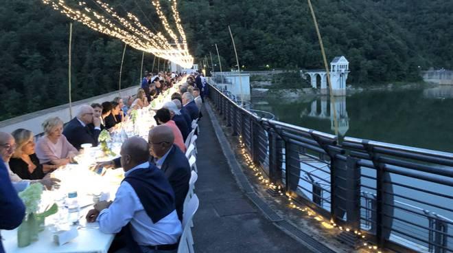 La cena alla diga del Molato