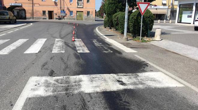 La perdita d'olio a San Nicolò