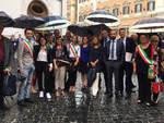 La protesta a Roma contro i tagli per le fusioni