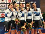 Le ragazze azzurre sul podio