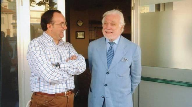 Gian Francesco Tiramani e Luciano De Crescenzo