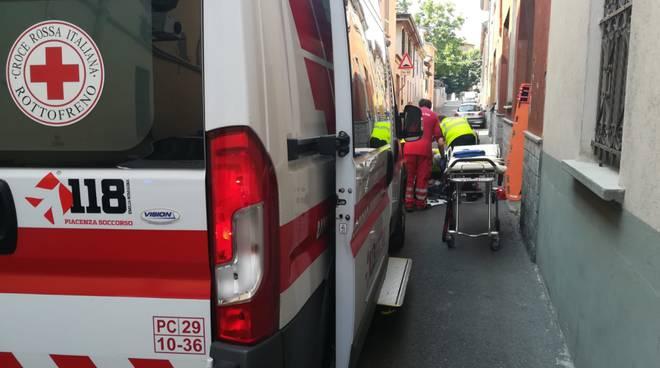 Caduta in bici in Vicolo Moroni
