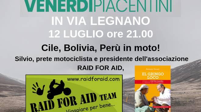 "Locandina serata ""Raid for Aid"" alla libreria Fahrenheit"