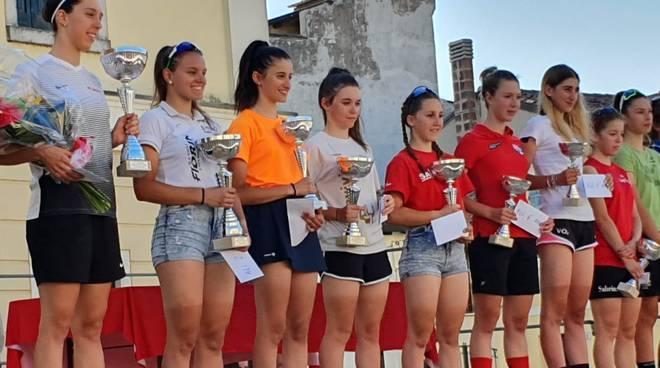 Premiazione corsa su strada per Allieve a Nogara