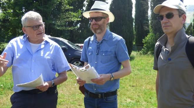 funzionario della Commissione Europea M. Quicheron in visita ai vigneti piacentini