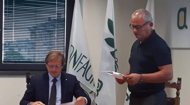 Confagricoltura,  il presidente Filippo Gasparini e il tesoriere Stefano Repetti