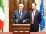 Foti e Ciriani dopo le consultazioni con il premier Conte