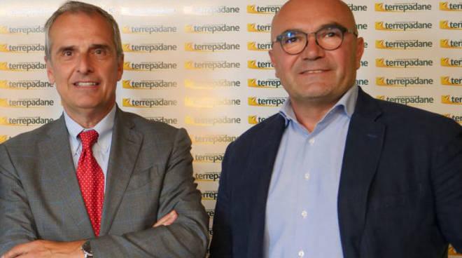 Il direttore di Terrepadane Dante Pattini e il presidente Marco Crotti