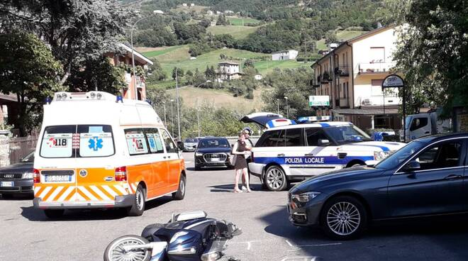 Incidente scooter a Bobbio