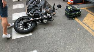 incidente via Genova moto