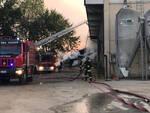 L'incendio all'azienda agricola di Podenzano