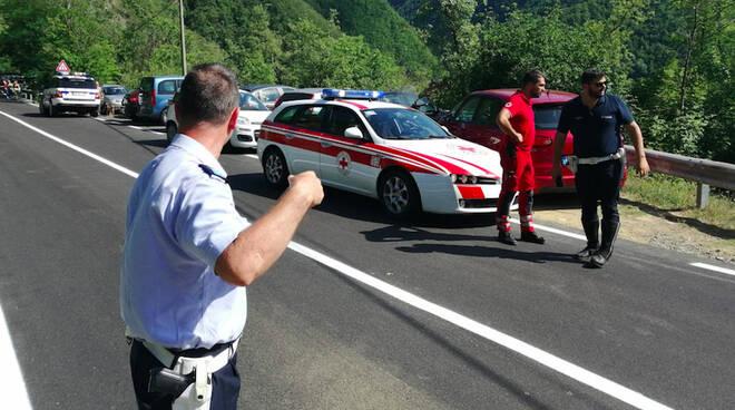 L'intervento della polizia locale in Trebbia