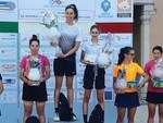 La premiazione Allieve di Meduna di Livenza con Giulia Raimondi (VO2 Team Pink) seconda