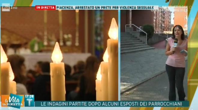 La Vita in Diretta a Piacenza per il caso di don Stefano Segalini