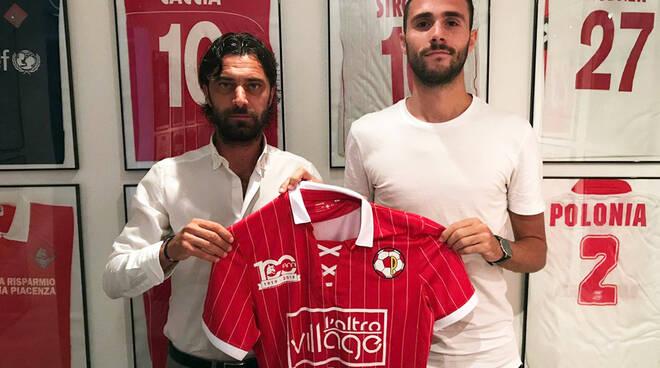 Luca Milesi con il ds Matteassi (foto Piacenza Calcio)